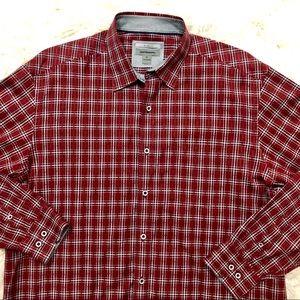 Johnston and Murphy Mens XL Shirt Plaid